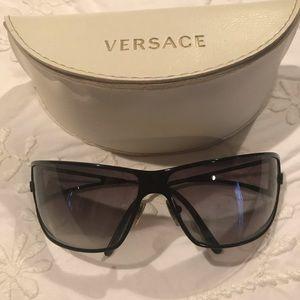 Authentic Versace black metal sunglasses, EUC